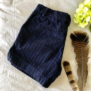 Eyelet navy shorts 🌿